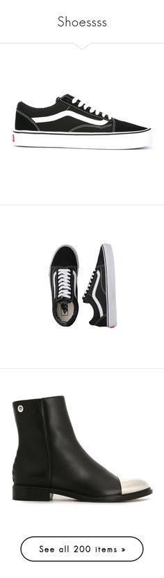 """Shoessss"" by ikgidda ❤ liked on Polyvore featuring shoes, sneakers, vans, zapatos, black, black sneakers, laced sneakers, black lace up sneakers, black shoes and black lace up shoes"