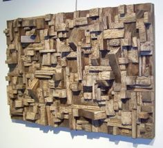 gasping at the beauty of these reclaimed wood art pieces by Olga Oreshnya.