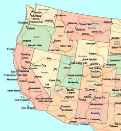map western state capitals of the united states worksheet