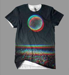 Full moon at the beach t-shirt.