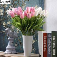 31 pcs/lot Tulipe Fleur Artificielle PU artificielle bouquet Real touch fleurs Pour La Maison De Mariage fleurs décoratives & couronnes(China (Mainland))