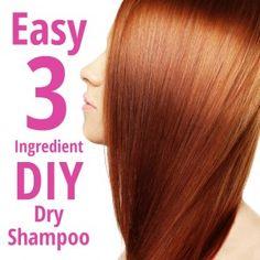 How to Make All Natural Dry Shampoo. So simple! Total life saver. PrettyThrifty.com