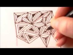 How to draw tanglepattern Paradox in circles - YouTube