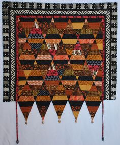 African ethnic inspired art quilt wall hanging 30 by QuirkyQuilts, $175.00