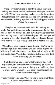 If this is how you really feel then i think its beautiful.
