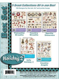 Amazon.com: Anita Goodesign Embroidery Designs Holiday BOX SET #2