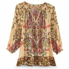 Embroidered Butterfly Top - New Age, Spiritual Gifts, Yoga, Wicca, Gothic, Reiki, Celtic, Crystal, Tarot at Pyramid Collection