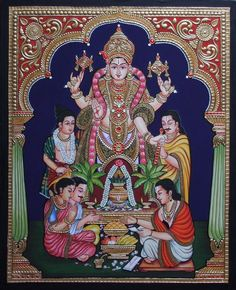 More Tanjore Paintings - Golden Streak Adorn Your Life with ART Pichwai Paintings, Indian Art Paintings, Mural Painting, Mysore Painting, Tanjore Painting, Lord Shiva Painting, Ganesha Painting, Pooja Door Design, Painted Curtains