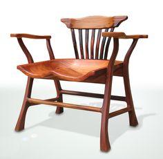 "Benji Reyes' tiger molave & bent ebony ""Salungpuwit Chair Premium"" / Bespoke Global"