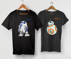 Matching Couple Shirts Star Wars Tshirt BB8 R2D2 by LetsDoMAGIC