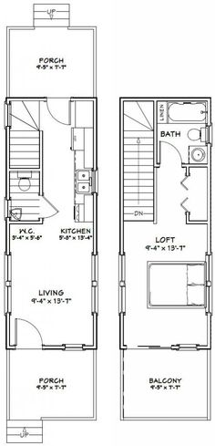 Parker studio apartment garage apartment floor plans for 16x32 2 story house plans