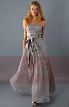 robe mariée | Robe de soirée Douce taupe de demoiselle d'honneur