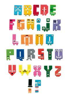 alphabet for the # 3 of les cahiers de L'Articho by Yassine de Vos, via Flickr