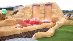 Explore Strawberry Falls - The Ice Cream Farm Cheshire Ice Cream Farm, Adventure Golf, Crazy Golf, Roller Coaster, Candy Cane, Strawberry, Explore, Make It Yourself, Fall