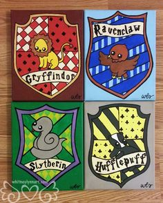 Harry Potter  Hufflepuff House Crest by whitneylynnart on Etsy, $65.00    I had the opportunity to meet the artist and her personality is all over these Harry Potter House Crests.  I love Whitney Lynn's art: