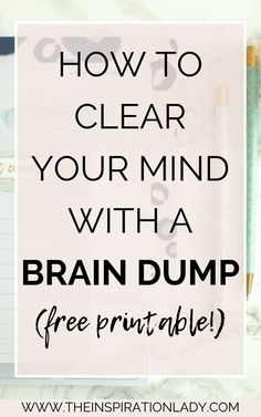 Our brains can only hold so much information. That's why brain dumps are so helpful. Here's why you should do a brain dump, when to do them, and how to do them. Plus, free printable brain dump worksheets! Self Development, Personal Development, Clear Your Mind, Journal Prompts, Planner Journal, Subconscious Mind, Self Care Routine, Stress Management, Best Self