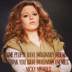 Pin for Later: The Cast of Orange Is the New Black Looks Way Different in Other Roles Natasha Lyonne as Nicky Nichols Natasha Lyonne, Orange Is The New Black, Nicky Nichols, Pop Culture Halloween Costume, Halloween Costumes, Prison Life, Black Quotes, Crazy Eyes, The Daily Beast