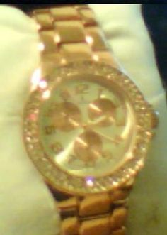 Womans Louis Arden Crysta Encrusted Watch