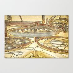 Wheely Good Fun  Stretched Canvas by F Photography and Digital Art - $85.00