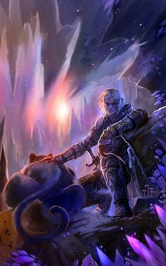 Amazing Drizzt Do'Urden - farewell,Underdark by breathing2004.deviantart.com