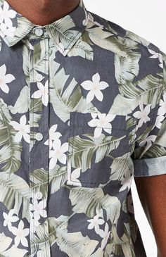 dc6081ad5a8 Grampy Tropical Short Sleeve Button Up Shirt Short Sleeve Button Up