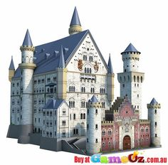 Neuschwanstein+Castle+Ravensburger+3D+Puzzle+Building+216+Piece  Pieces+:+216  Manufacturer+:+Ravensburger  Completed+Model+Size:+39.3+x+22.7+x+38cm  Discover+and+construct+your+own+3D+puzzles+with+Ravensburger's+stunning+Puzzle+Buildings+and+Monuments.+These+puzzles+use+perfectly+fitting+hinged+and+curved+sturdy+plastic+puzzle+pieces.+No+glue+is+required+and+the+completed+structure+has+no+internal+components!  Ages:+12+