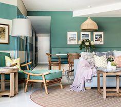 Resultado de imagem para decoração de casa com toques de turquesa