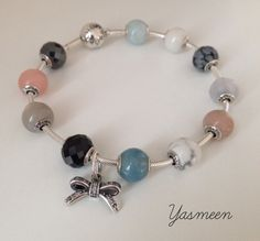 7448f12f5 Added a hint of bling to an otherwise earthy and rustic stone bracelet.