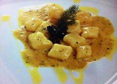 LE GUSTOSE RICETTE  DI NONNA MARIA: Gnocchi di patate al sugo di baccalà e olive nere