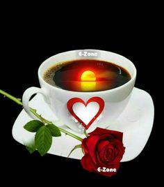 Good Morning Coffee Gif, Good Morning My Love, Tea Cafe, Emoji Images, Romantic Gif, Coffee Talk, Happy Sunday, Beautiful Flowers, I Am Awesome