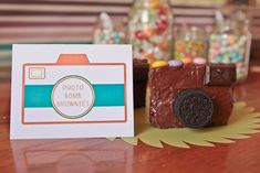 Photography School ~ Graduation Party. camera party brownies (oh snap!)