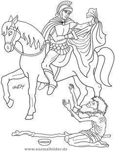 Saint Martin of Tours Coloring Page Flag Coloring Pages, Flower Coloring Pages, Coloring Pages For Kids, Coloring Books, St Martin Of Tours, Horse Quilt, St Therese Of Lisieux, Autumn Crafts, Martini