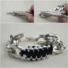 Bracelets for guys- DIY survival bracelet with chunky chain – Pandahall