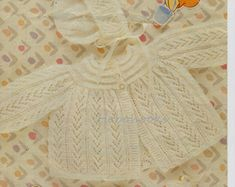 baby layette knitting pattern matinee coat dress shawl bonnet