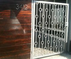 Image result for wrought iron railing design Midcentury
