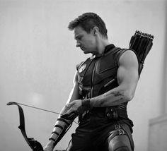 Mmmmmmm . . . arms . . .Jeremy Renner, Hawkeye