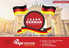Learn German language at Riya Education, Kollam. For more details get in touch with us. Visit our website for details.
