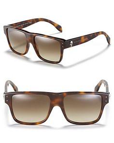 32c25aa3d5d Alexander mcqueen square wayfarer sunglasses solglasögon