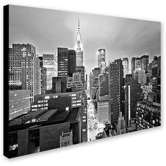 Trademark Fine Art Preston 'New York Skyline 2' Canvas Art - Home -... (€44) ❤ liked on Polyvore featuring home, home decor, wall art, trademark fine art, canvas wall art, new york skyline wall art and canvas home decor