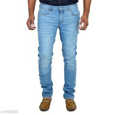 Jeans Trendy Stylish Men's Jeans  Fabric: Denim Size: 30 in 32 in 34 in 36 in  38 in Length: Up To 40 in Type: Stitched Description: It Has 1 Piece Of Men's Jean Pattern : Solid Country of Origin: India Sizes Available: 28, 30, 32, 34, 36, 38   Catalog Rating: ★4 (2251)  Catalog Name: Trendy Stylish Men's Jeans Vol 1 CatalogID_599167 C69-SC1211 Code: 093-4196893-