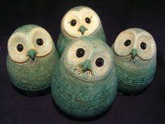 Ceramic owls in Portland-