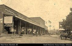 North Main Street Marshall Arkansas Around 1910