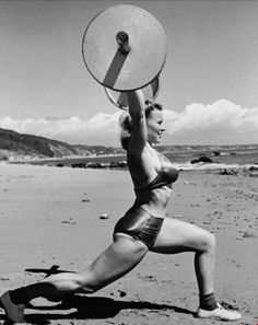 """Strongwoman Abbye """"Pudgy"""" Stockton She was one of the forerunners of present day female #bodybuilders http://hubpages.com/sports/Female-Bodybuilding-Part-One-The-History"""