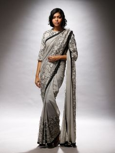 hippie polka sari with flower petals texture