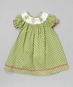 This Green Polka Dot Fairy Bishop Dress - Infant & Toddler is perfect! #zulilyfinds                  16.99