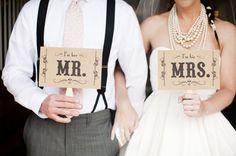 #Wedding signs as photo props add so much fun to any wedding!  From http://stylemepretty.com/gallery/picture/603192  Photo Credit: http://lauren-wakefield.com/