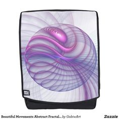 Beautiful Movements Abstract Fractal Art Pink Backpack