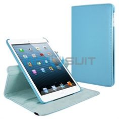 """Revolve your outlook on MiniSuit's latest accessory: 360 Rotating Case   Stand for iPad Mini 7.9"""". Sleek and executive book-style case is made of premium PU leather for a professional look and feel. Three amazing qualities: 1) 360-degree Swivel allo"""
