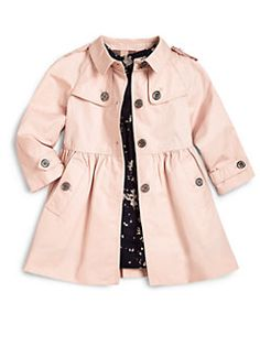 Burberry - Toddler Girl's Melody Skirted Trenchcoat