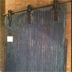 Great industrial sliding door.